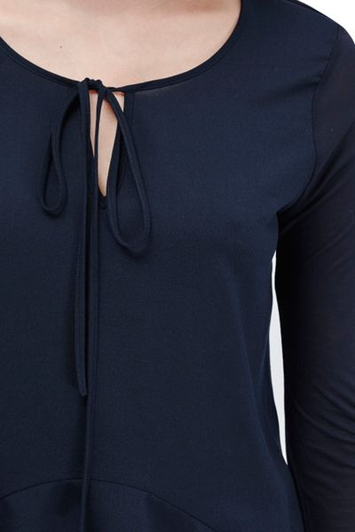 French Connection Polly Plains Flared Hem Top