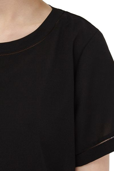 French Connection Polly Plains Stitch Detail Top