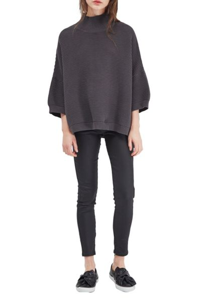 French Connection Spring Mozart High Neck Cotton Jumper