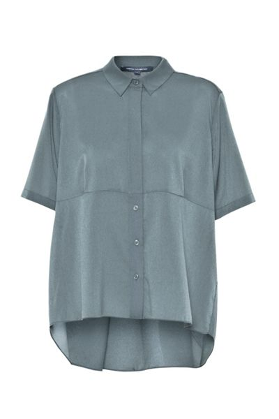 French Connection Polly Plains Collared Top