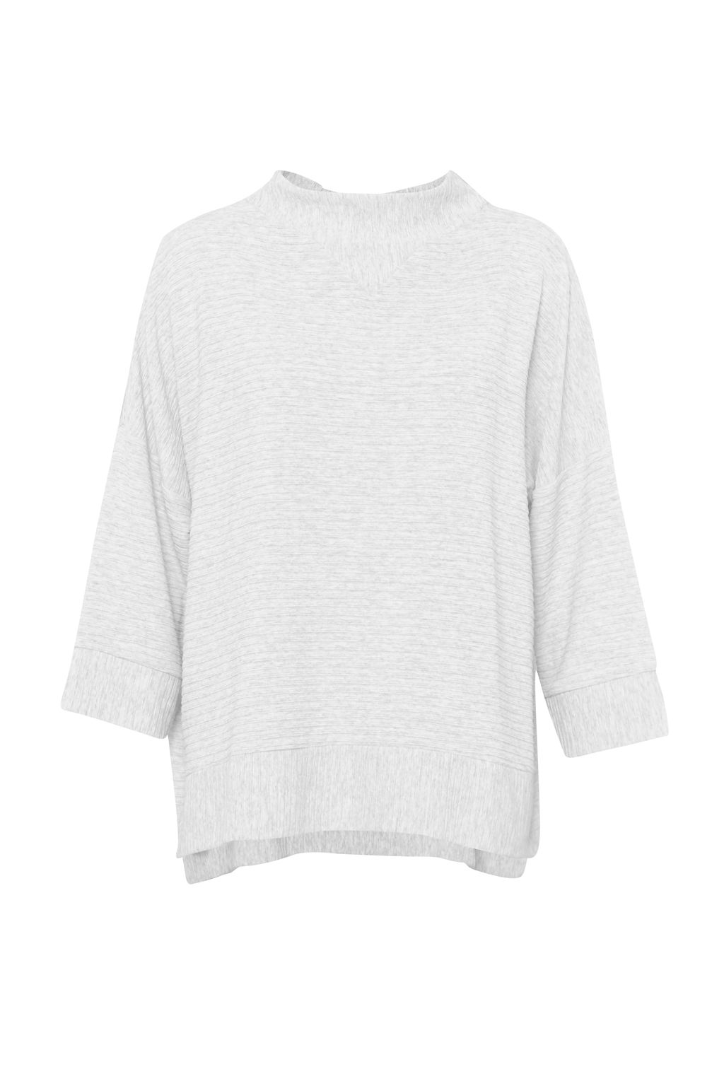 French Connection Sudan Marl Top, White