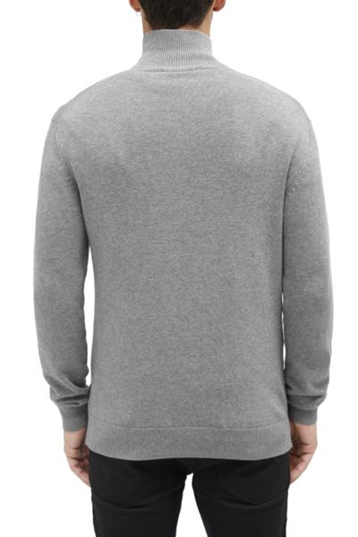French Connection Canvas Trim Half Zip Jumper