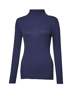 Bambino Rib High Neck Jumper