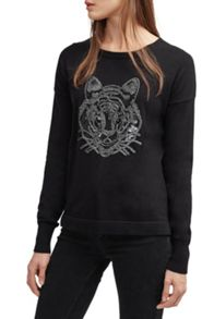 French Connection Animal Knits Tiger Jumper