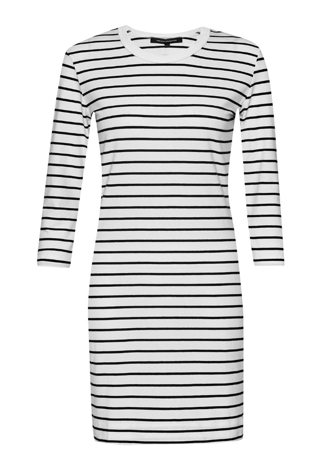 French Connection Tim Tim Striped Dress, White