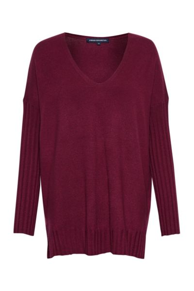 French Connection Viva Vhari Rib Sleeve Jumper