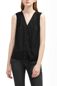 French Connection Polly Plains V Neck Top