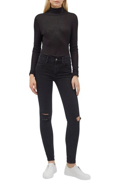 French Connection Marian Slub Polo Neck Top