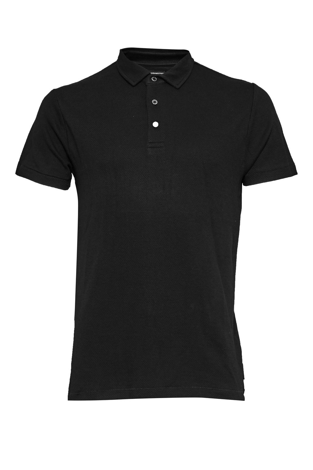 Men's French Connection Central Crepe Polo Shirt, Black