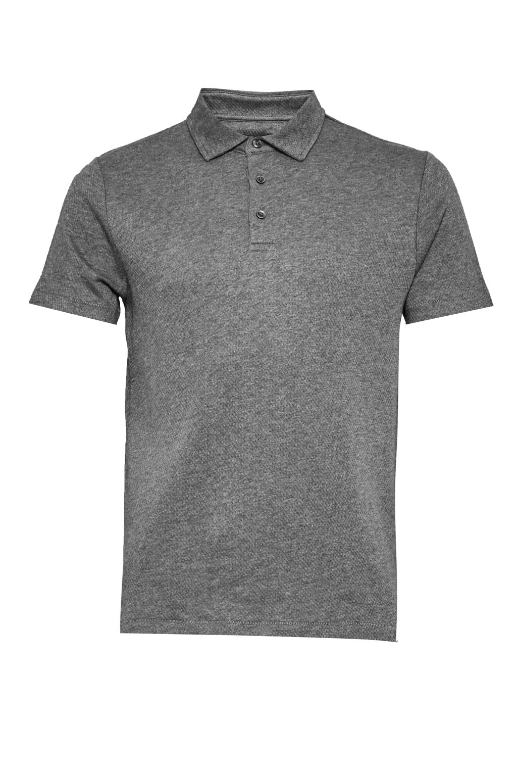 Men's French Connection Central Crepe Polo Shirt, Grey