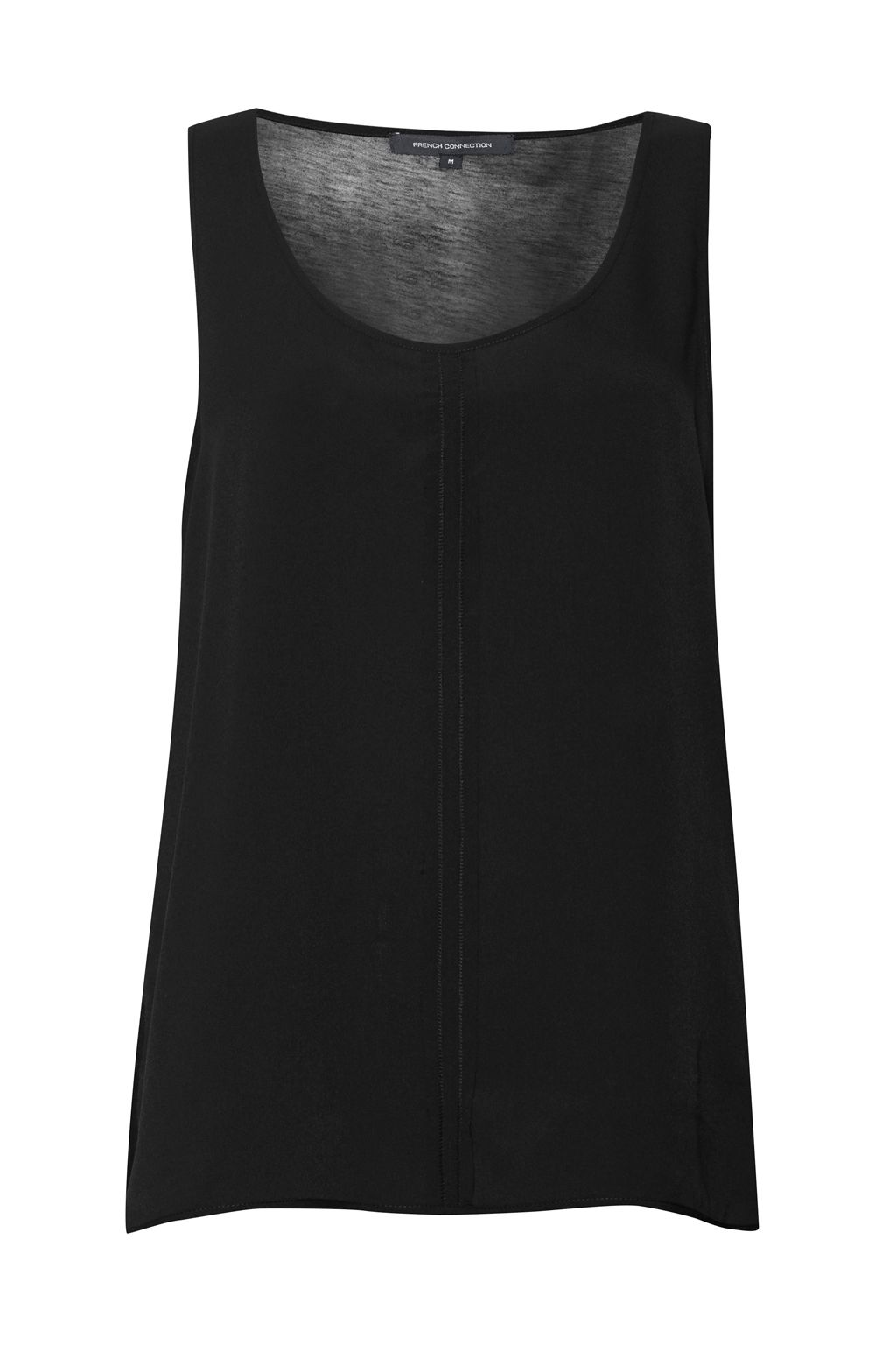 French Connection Clee Crepe Light Vest Top, Black