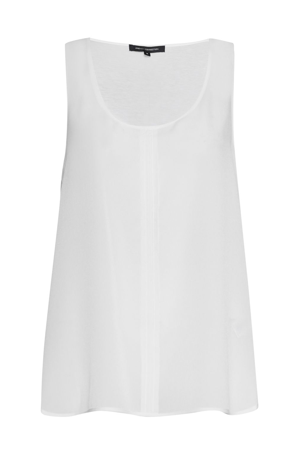 French Connection Clee Crepe Light Vest Top, White