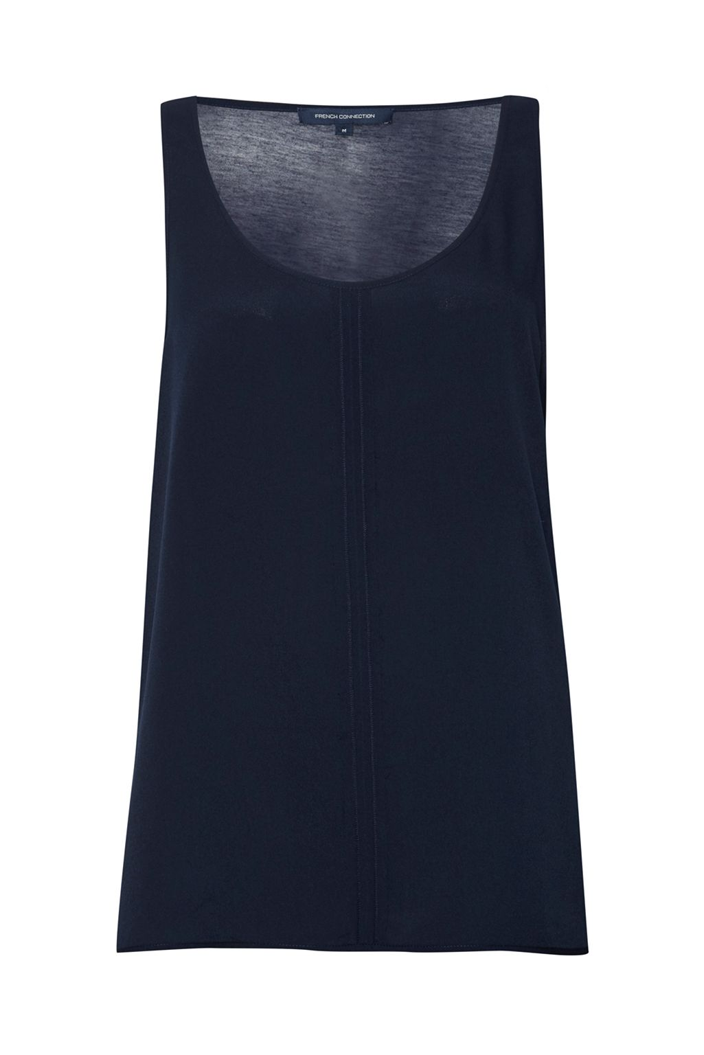 French Connection Clee Crepe Light Vest Top, Blue