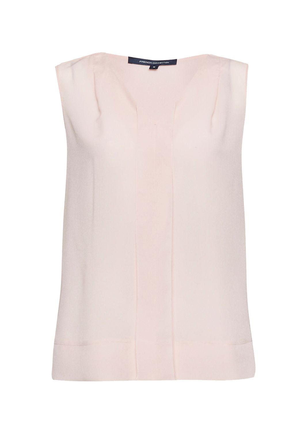 French Connection Polly Plains V Neck Top, Pinkest Blossom