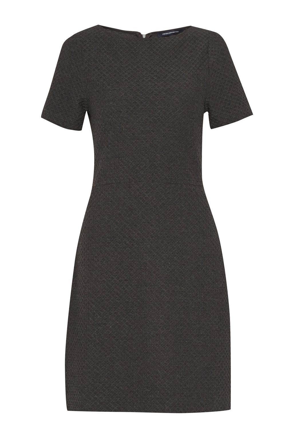 French Connection Dixie Textured Dress, Charcoal