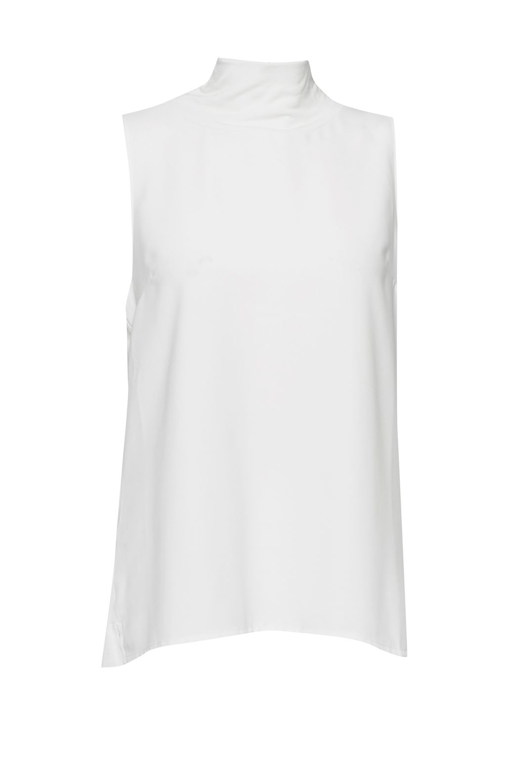 French Connection Crepe Light Mock Neck Top, Winter White