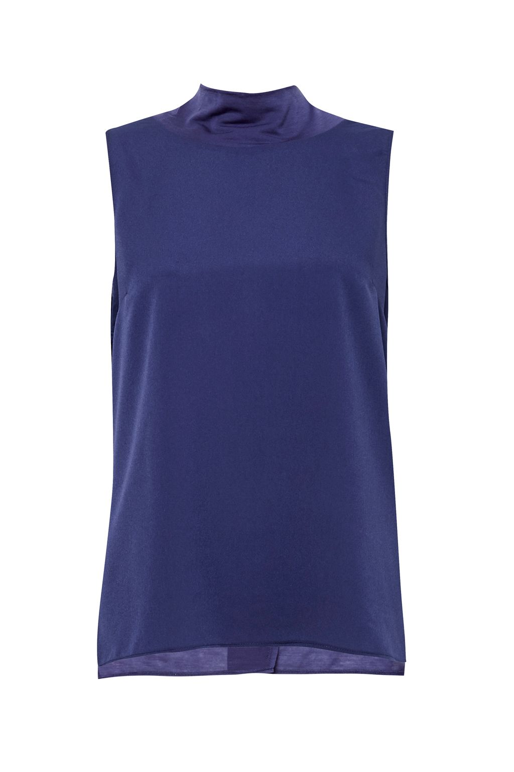 French Connection Crepe Light Mock Neck Top, Blue