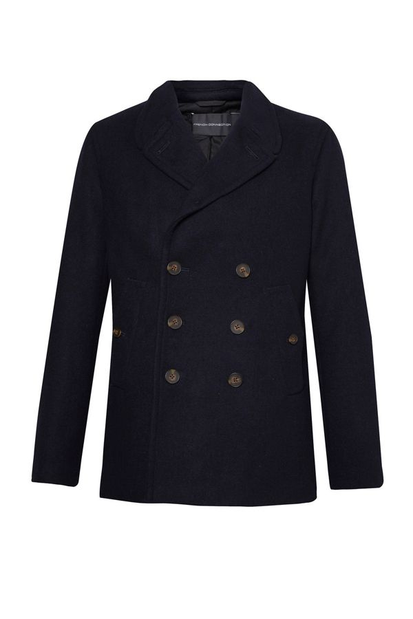 French Connection Melton Double Breast Peacoat