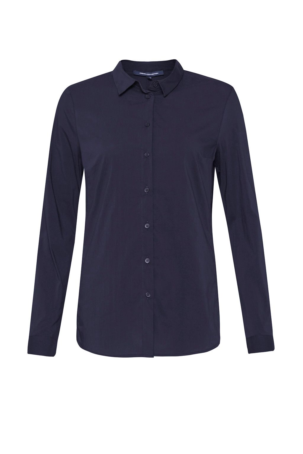 French Connection Eastside Cotton Shirt, Blue