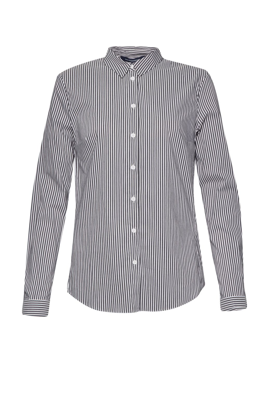 French Connection Eastside Cotton Shirt, Grey