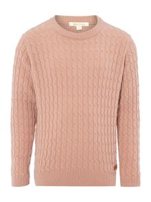 Barbour Girls Country Crew Cable Knit
