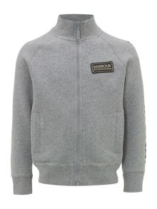 Barbour Boys International Logo Zip Through Sweater