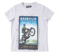 Barbour Boys Motorbike Poster Graphic T-shirt