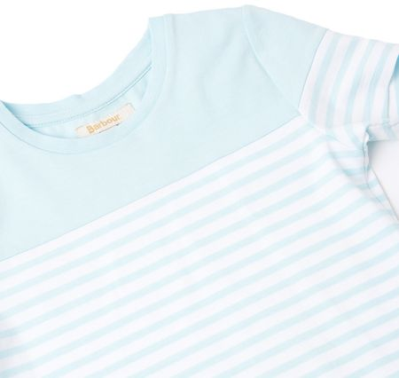 Barbour Girls short sleeved striped stretch dress