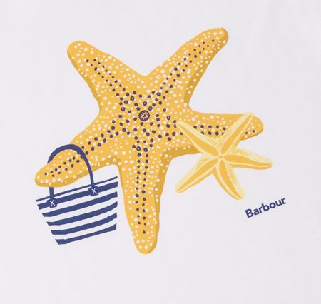 Barbour Girls t-shirt with starfish print