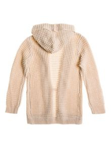 Girls chunky knit cardigan with hood