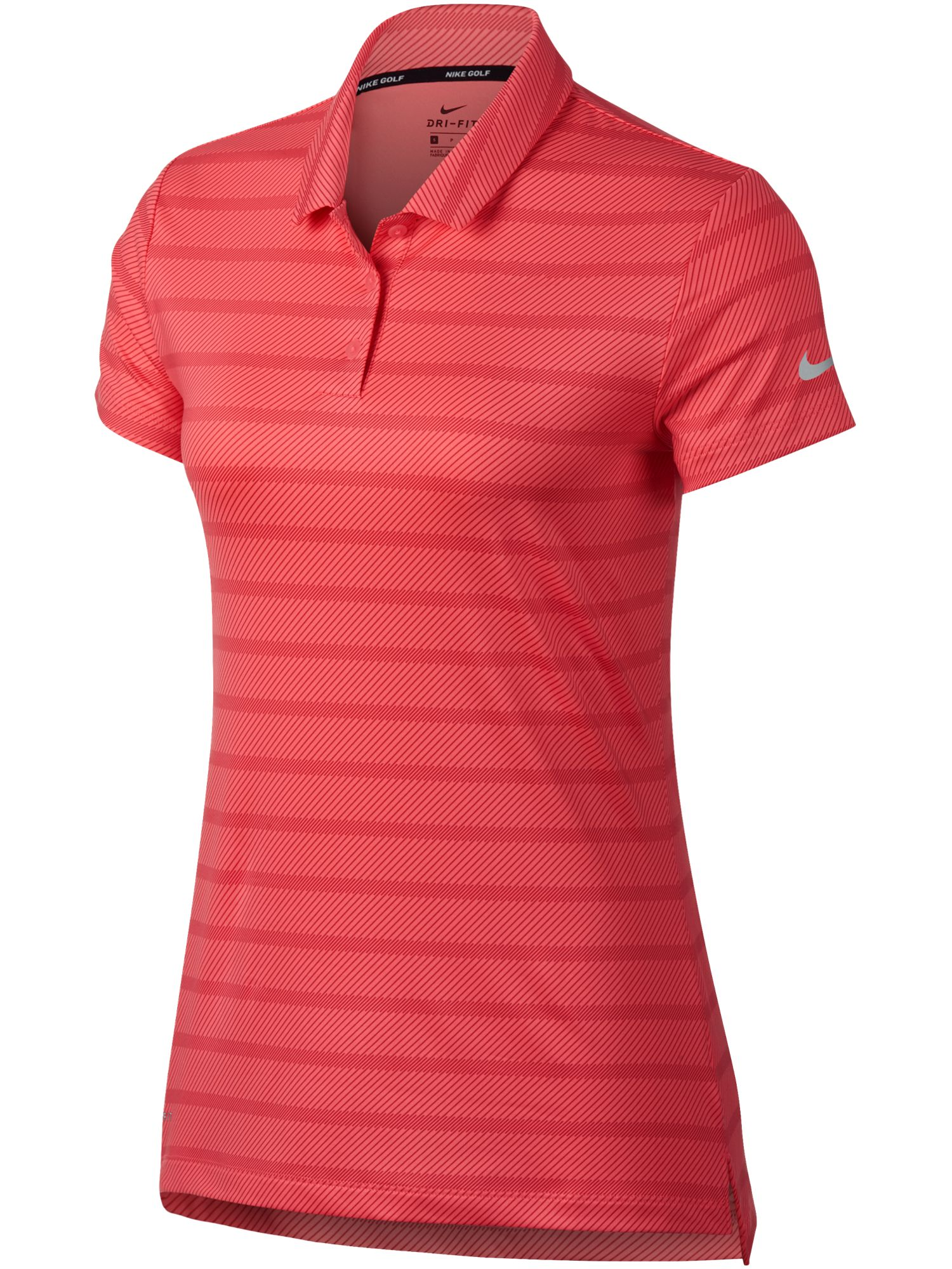 Nike Golf Dry Golf Stripe Polo, Hot Pink