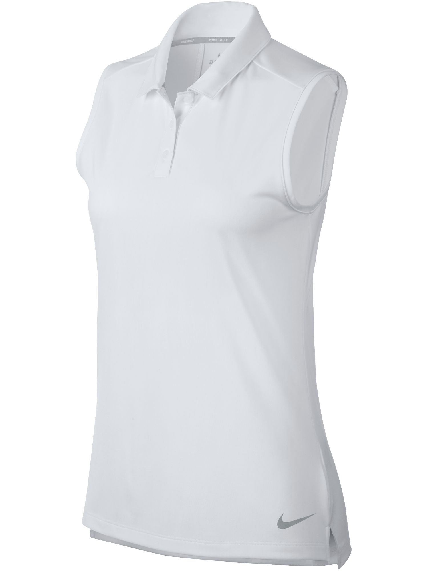 Nike Golf Dry Sleeveless Polo, White