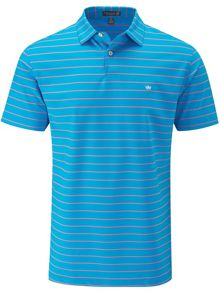 Peter Millar Stripe stretch polo