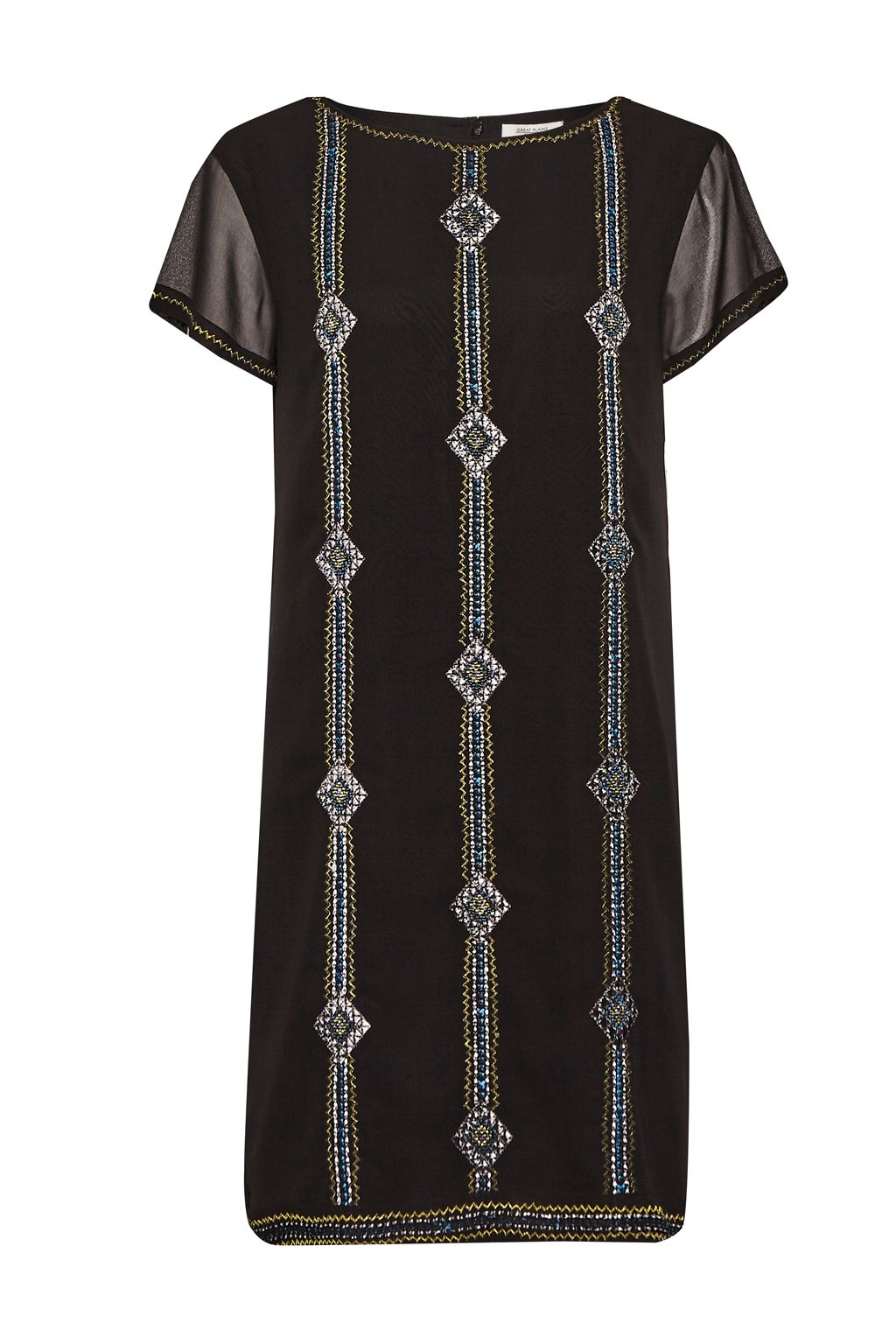 Great Plains Karla Stitch Embroidered Dress, Black