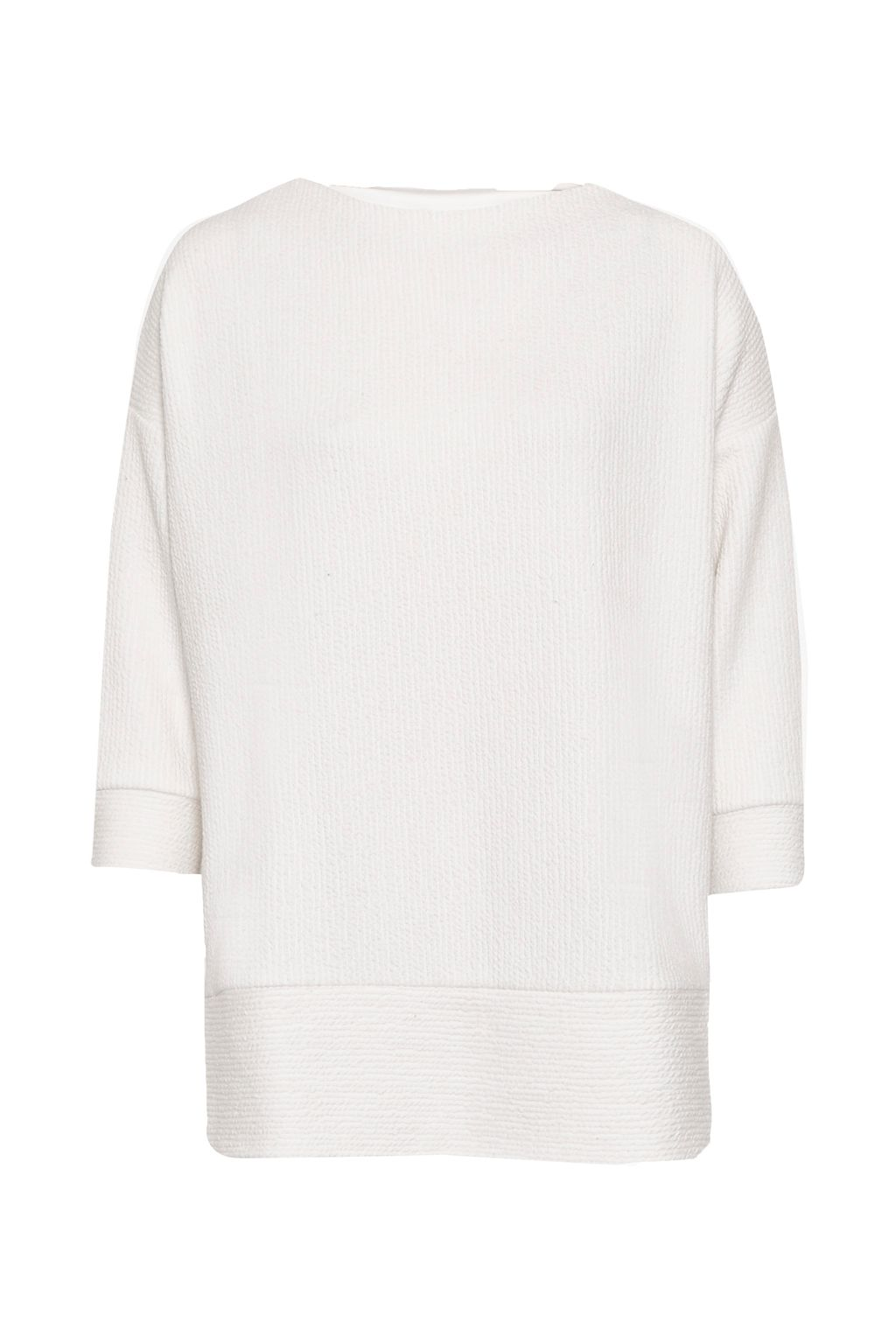 Great Plains Wiggle Rib Oversized Top, White
