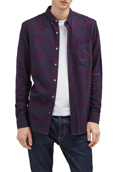 French Connection Potent Purple Flannel Shirt