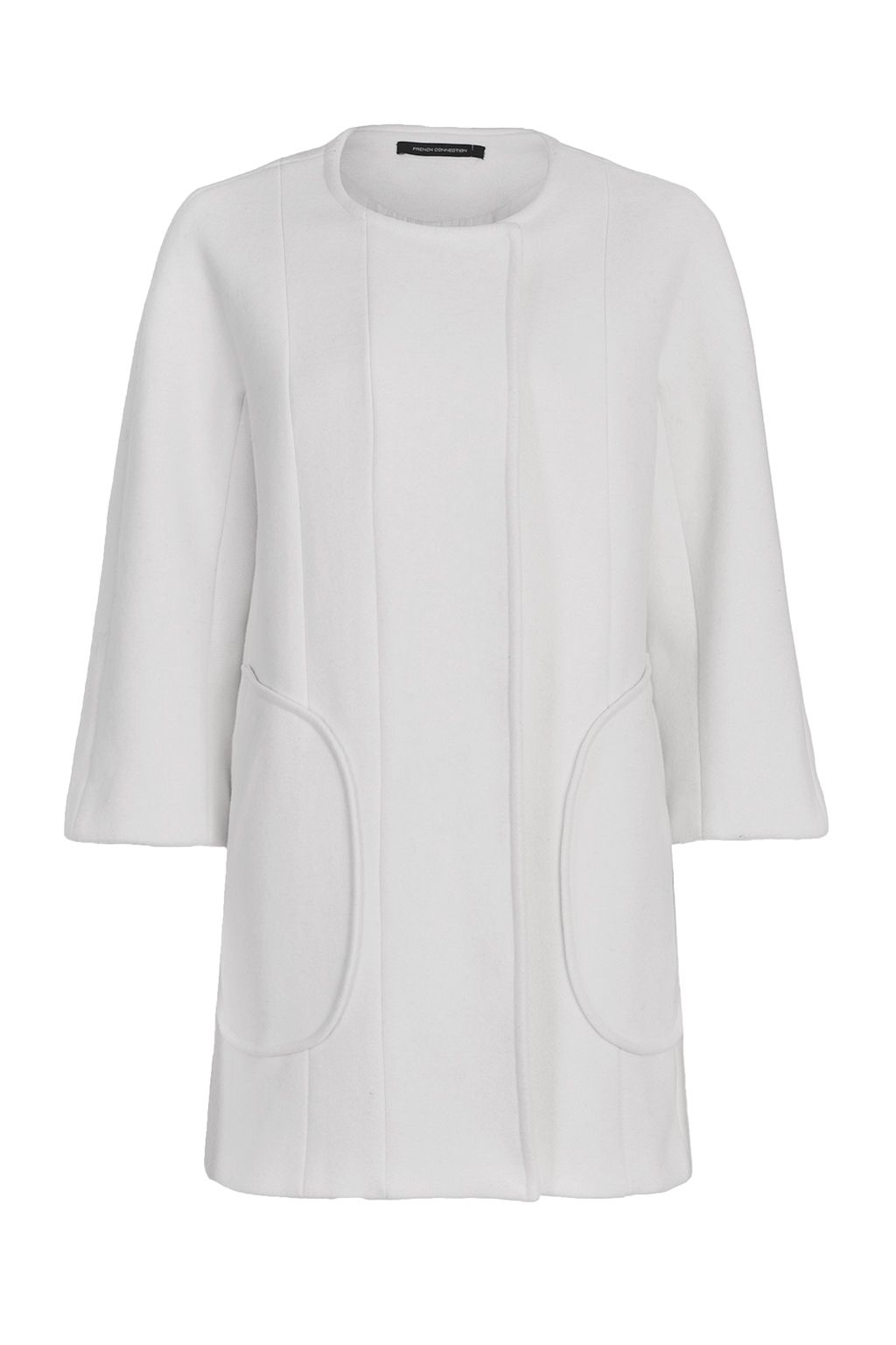 French Connection Harbour Wool Coat, White