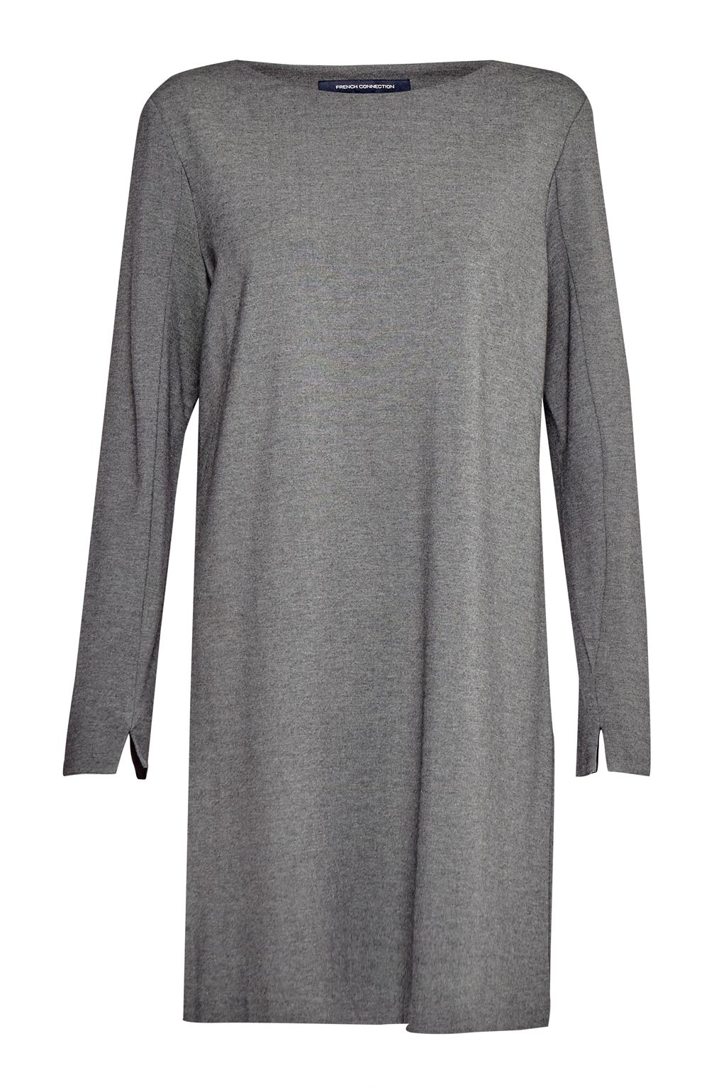 French Connection Lula Tiff Slash Neck Dress, Grey