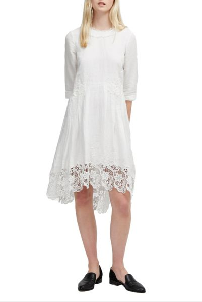 French Connection Kiara Applique Floral Smock Dress
