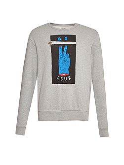 V Fcuk Graphic Sweatshirt
