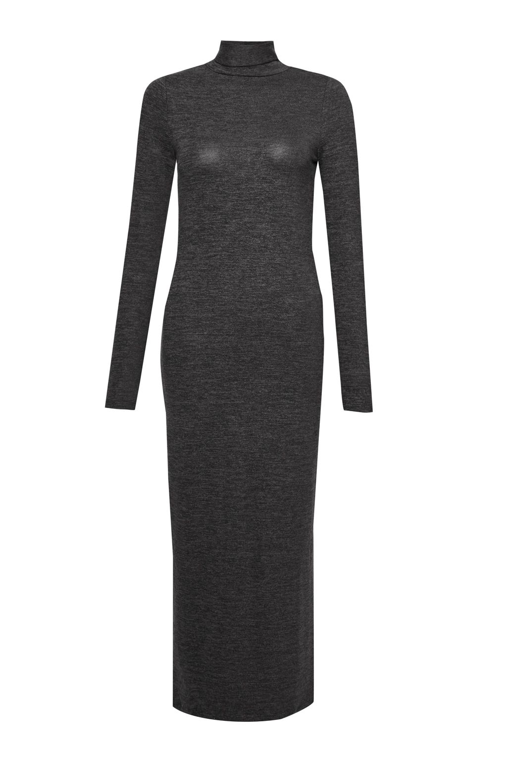French Connection Sweeter Sweater Roll Neck Jumper Dress, Grey