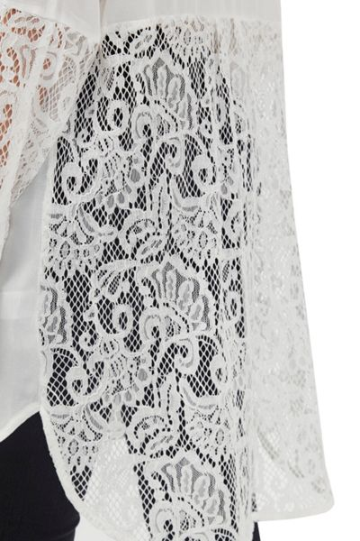 French Connection Taza Lace Longline Shirt
