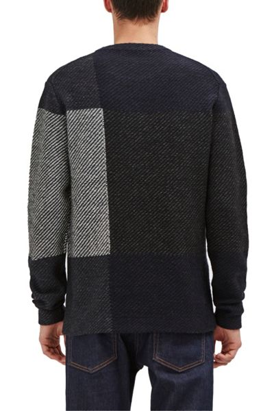 French Connection Twill Check Knits Jumper