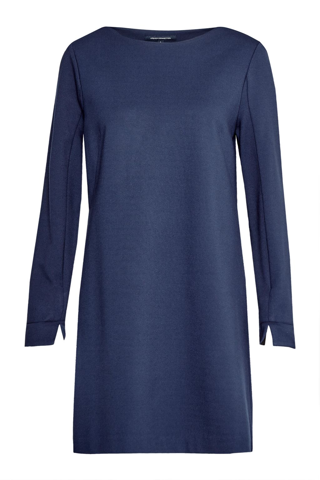French Connection Lula Tiff Slash Neck Dress, Blue