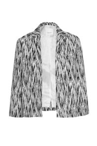 French Connection White Noise Jacquard Crop Jacket