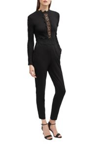 French Connection Petra Lace Beau Jumpsuit