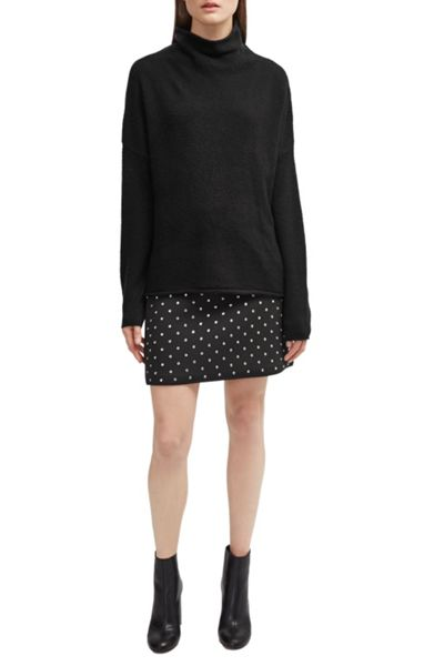 French Connection Diamond Drop Jersey Mini Skirt