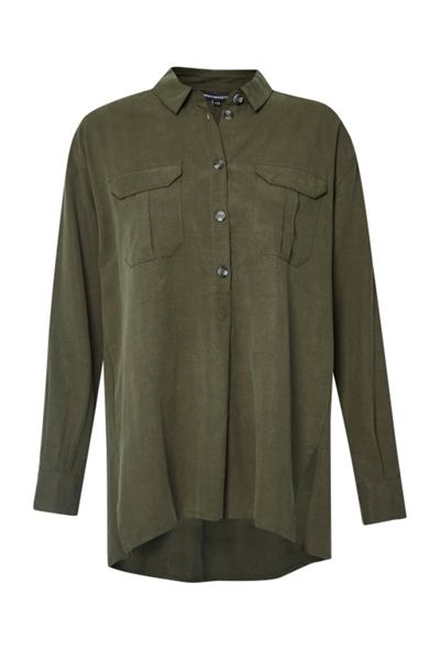 French Connection Trooper Tencel Pull Over Shirt