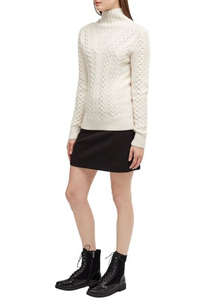 French Connection Cable Knits High Neck Jumper
