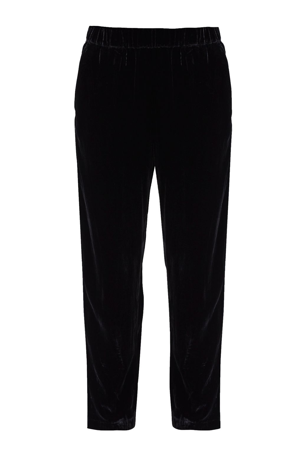Great Plains Velvet Moon Jogger Trousers, Black